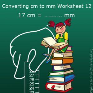 Converting cm to mm Worksheet 12 Converting cm to mm Worksheet 12