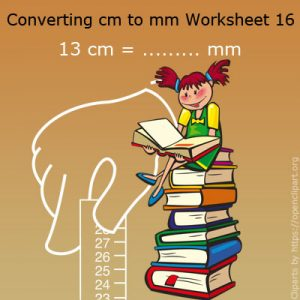Converting cm to mm Worksheet 16