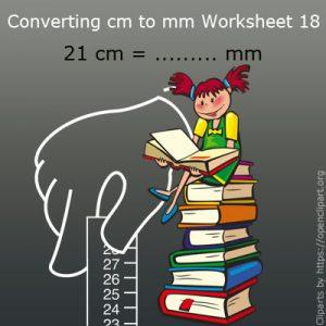 Converting cm to mm Worksheet 18