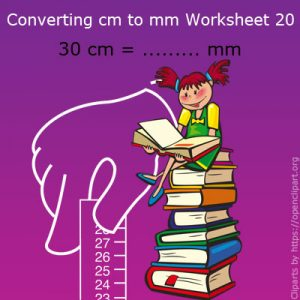 Converting cm to mm Worksheet 20