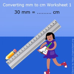 Converting mm to cm Worksheet 1 Converting mm to cm Worksheet 1