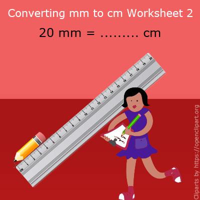 Converting mm to cm Worksheet 2