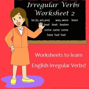 Key Stage Two Irregular Verbs Worksheet 2