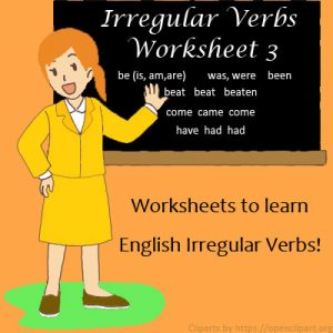 Irregular Verbs Worksheet 3 Irregular Verbs Worksheet 3