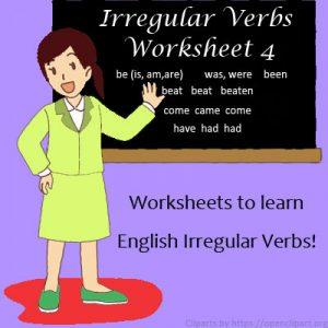 Key Stage Two Irregular Verbs Worksheet 4