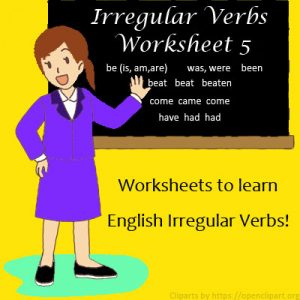 Irregular Verbs Worksheet 5 Irregular Verbs Worksheet 5