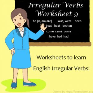 Irregular Verbs Worksheet 9 Irregular Verbs Worksheet 9