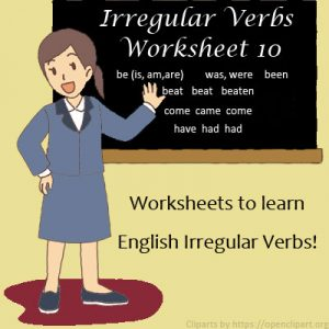 Irregular Verbs Worksheet 10