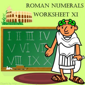 Roman Numerals Worksheet 11 Roman Numerals Worksheet 11