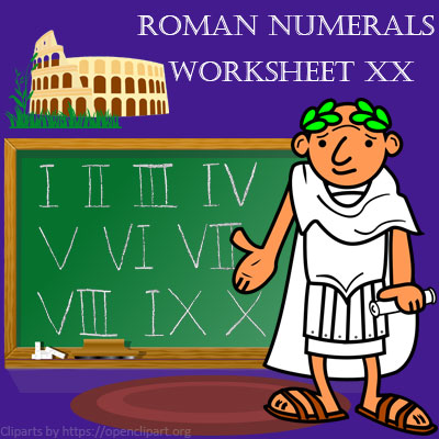 Roman Numerals Worksheet 20 | Roman numerals to Arabic Numbers