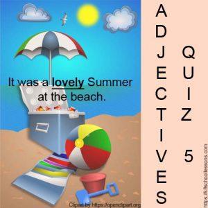 Adjectives Quiz 1