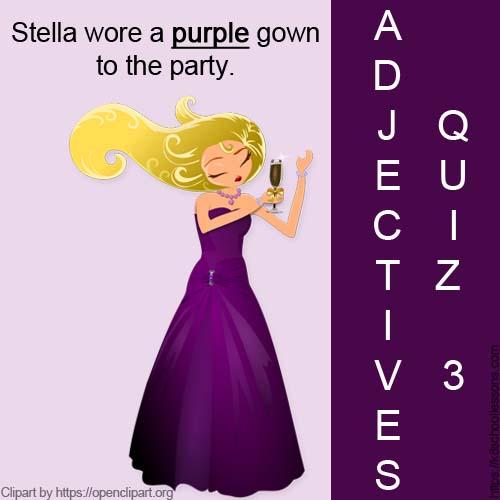Adjectives Quiz 3