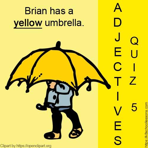 Adjectives Quiz 5