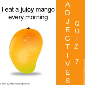 Adjectives Quiz 7 Adjectives Quiz 7
