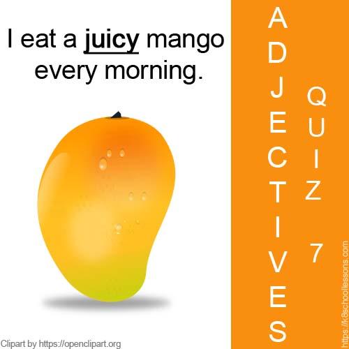 Adjectives Quiz 7