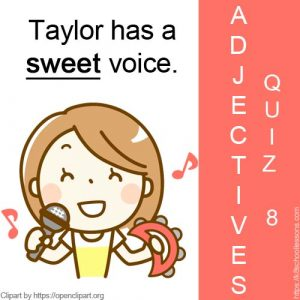 English Adjectives Quiz 8