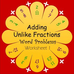 Adding Fraction Word Problems Worksheets 1 Adding Fraction Word Problems Worksheets 1
