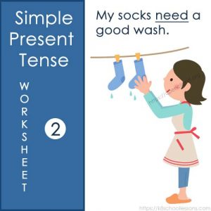Simple Present Tense Worksheet 2 Simple Present Tense Worksheet 2