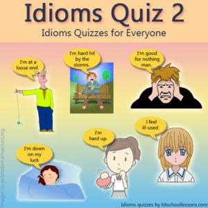 Idioms Quiz 2 Idioms Quiz 2
